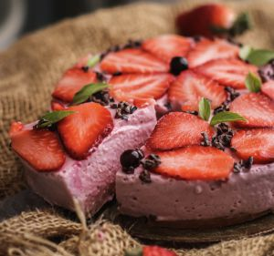 Receta Cheesecake de fresa saludable
